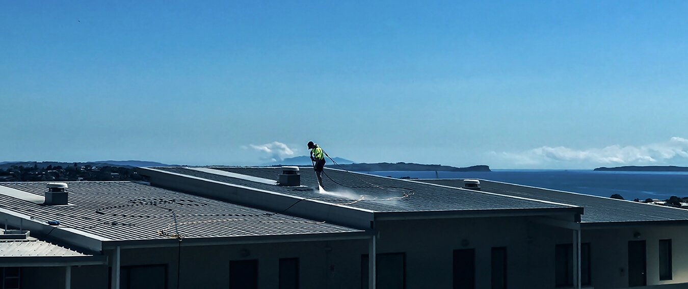 NZTS Roof Commercial Roof Washing