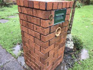 Clean residential brick mailbox