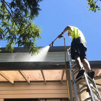 Exterior house washing by NZTS expert