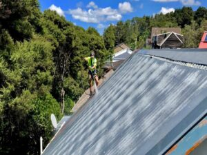 NZTS expert cleaning steep angled roof