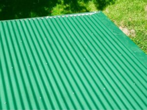 Clean metal roof after NZTS roof treatment
