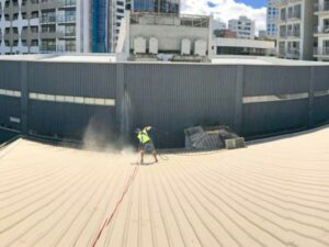 NZTS professional waterblasting commercial roof
