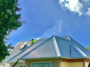 Roof washing by NZTS professional