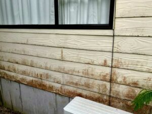 dirty wooden white wall