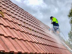 NZTS cleaning red roof tiles