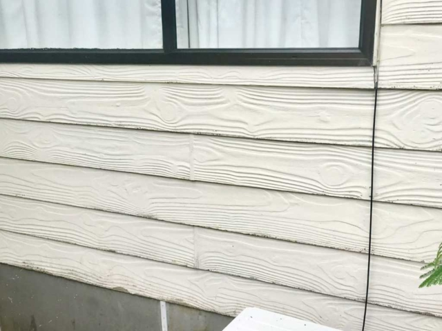 Clean wooden house exterior after building wash