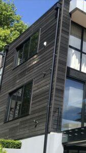 wooden house siding damage