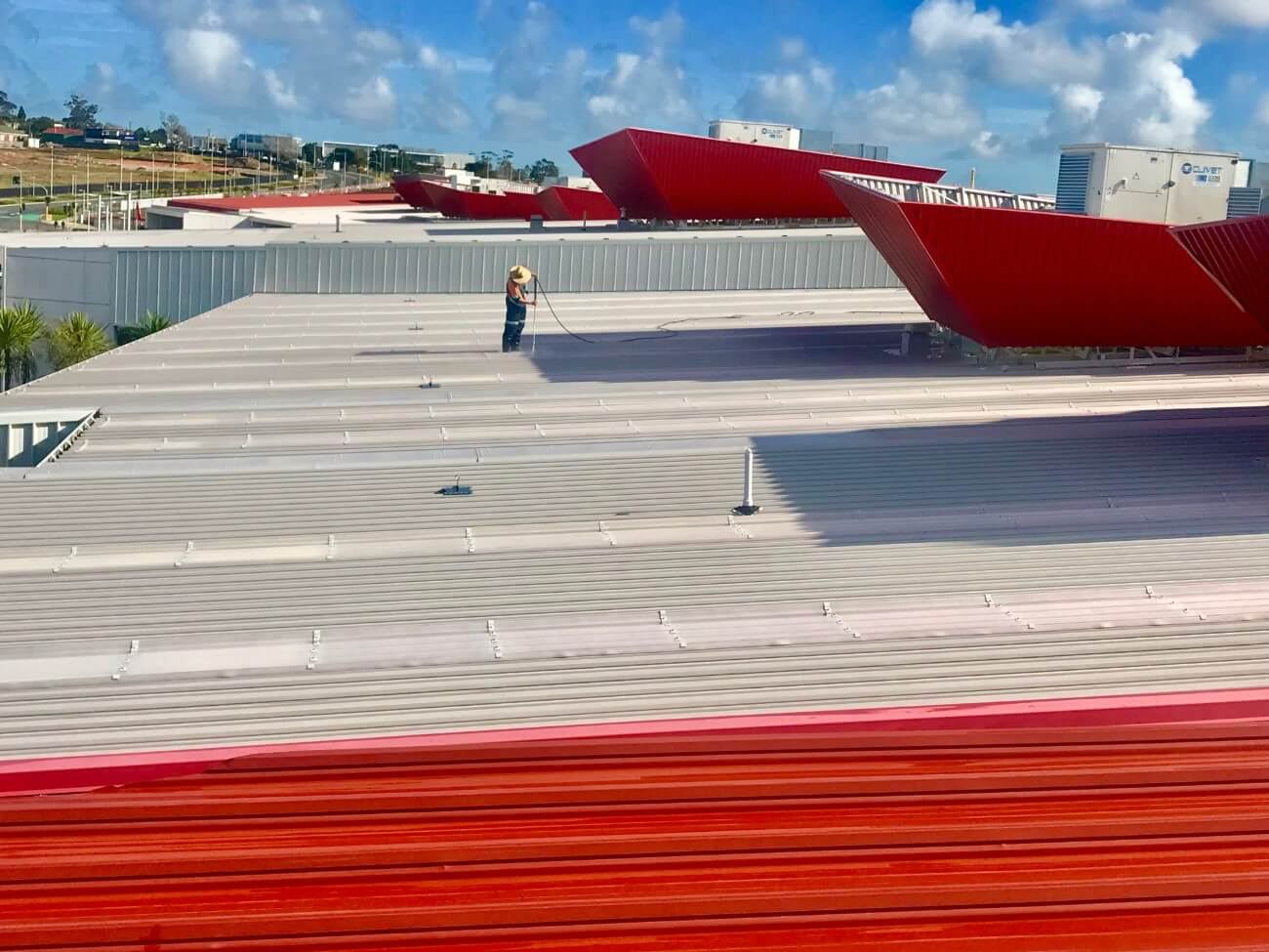 NZTS roof washing commercial building