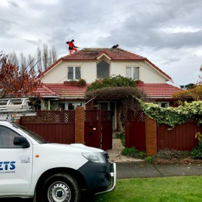 NZTS residential building wash in progress